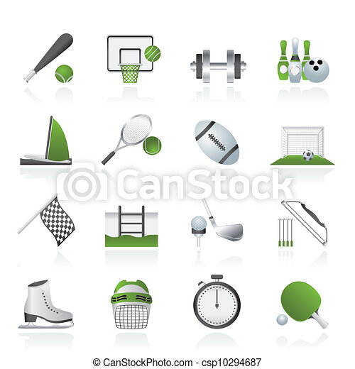 Sport objects icons - csp10294687