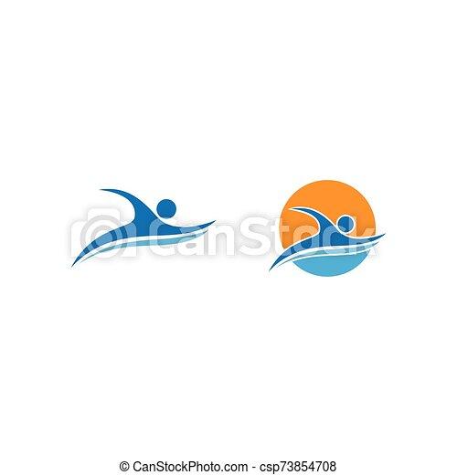sport, pływacki, logo - csp73854708