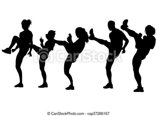 Sport people on white - csp37266167