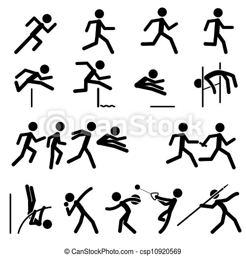 Sport Pictogram Track and Field - csp10920569