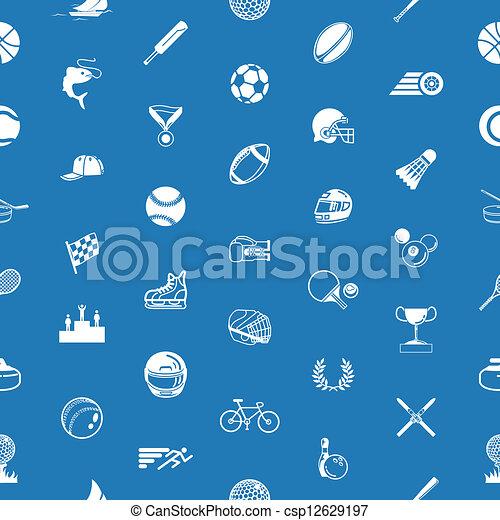 sport, seamless, bakgrund, struktur - csp12629197