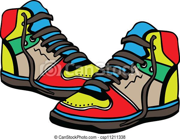 sport shoes illustration vectors search clip art illustration rh canstockphoto com