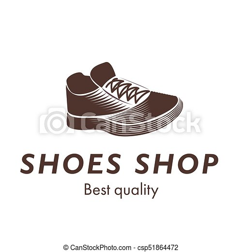 Sport shoes shop best quality sneakers logo design isolated on white background. Flat design vector illustration