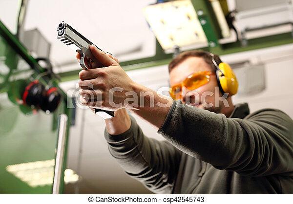Sport shooting range. - csp42545743