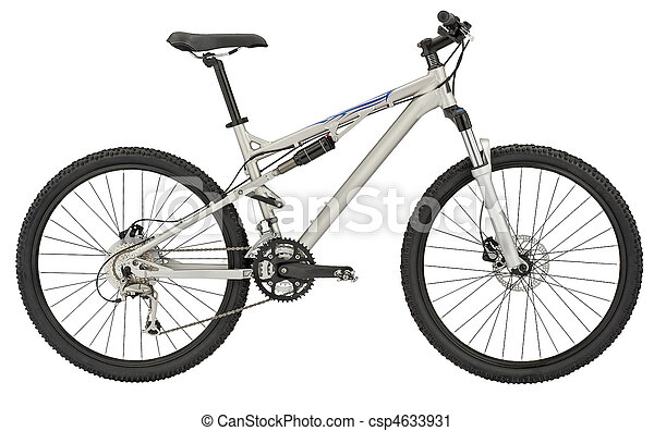 Sport silver bicycle on white - csp4633931
