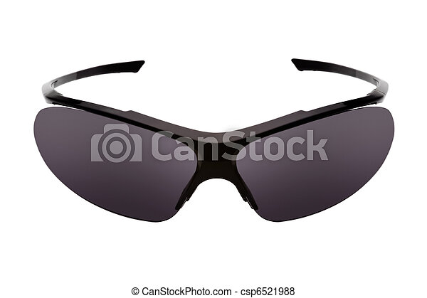 Sport sunglasses, isolated on a white background - csp6521988