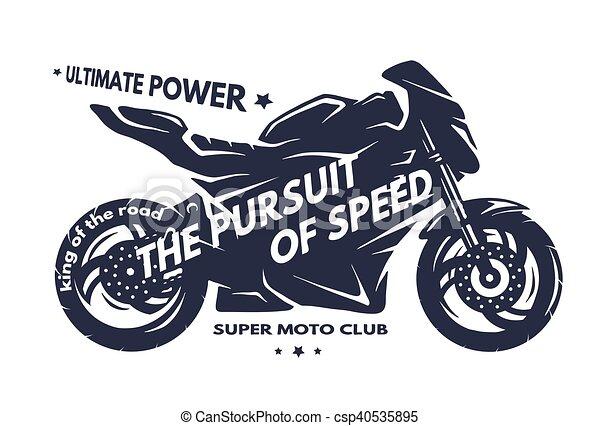 Sport Superbike Motorcycle.