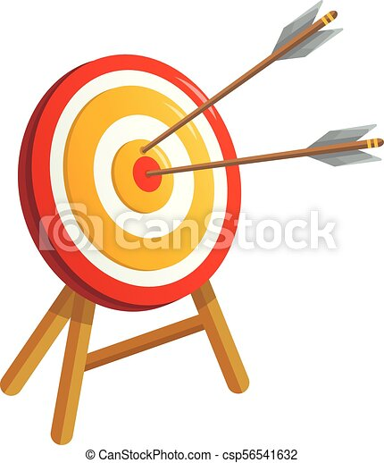 Sport target icon, cartoon style - csp56541632