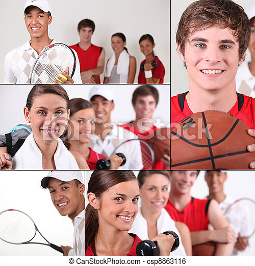 Sport themed collage - csp8863116