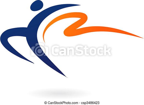 sport, -, wektor, gimnastyka, figura - csp3486423