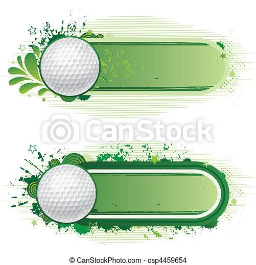 sportende, golf - csp4459654
