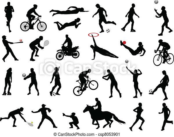 sportende, verzameling - csp8053901