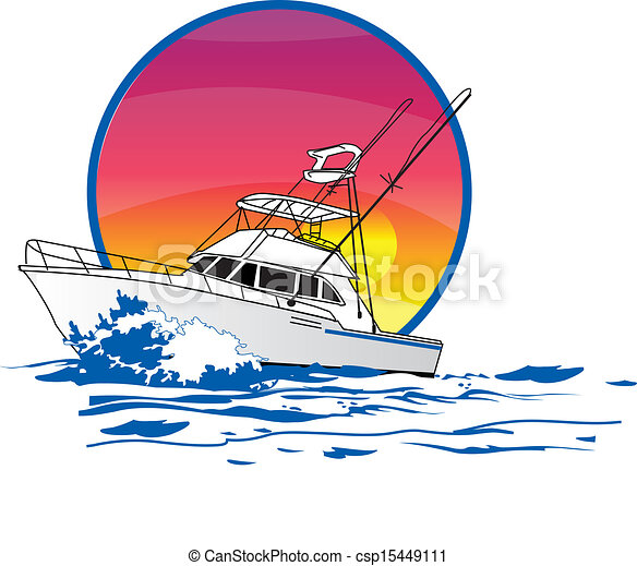 sportfisher boat amigo about 40 offshore sport fishing vector rh canstockphoto com