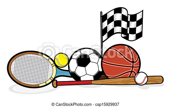 sporting equipment illustrations and clipart 160 459 sporting rh canstockphoto com