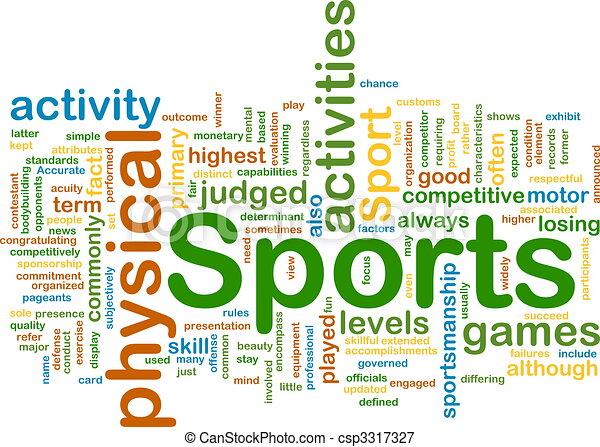Sports activities background concept - csp3317327