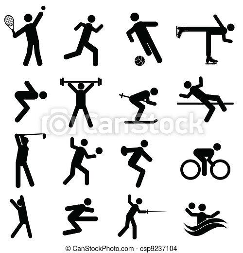 Sports and athletics icons - csp9237104