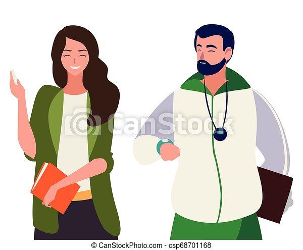 sports and female teachers - csp68701168