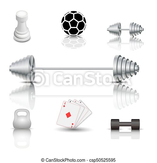 Sports and game icons, vector illustration. - csp50525595