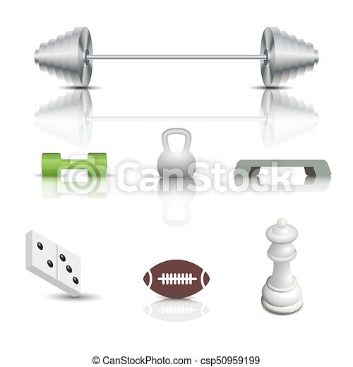 Sports and game icons, vector illustration. - csp50959199
