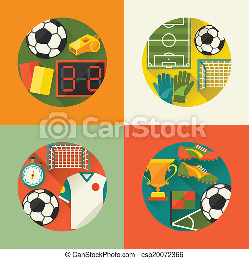 Sports backgrounds with soccer football flat icons clip art sports backgrounds with soccer football flat icons csp20072366 voltagebd Gallery