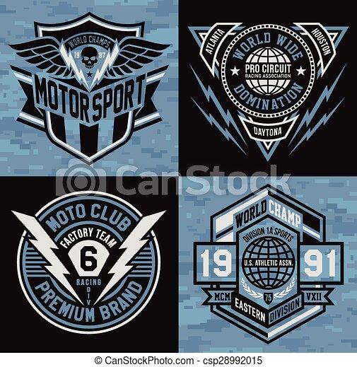 Sports badge emblem set - csp28992015