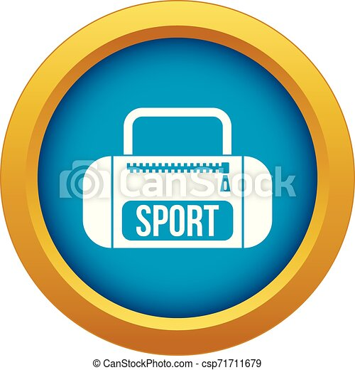 Sports bag icon blue vector isolated - csp71711679