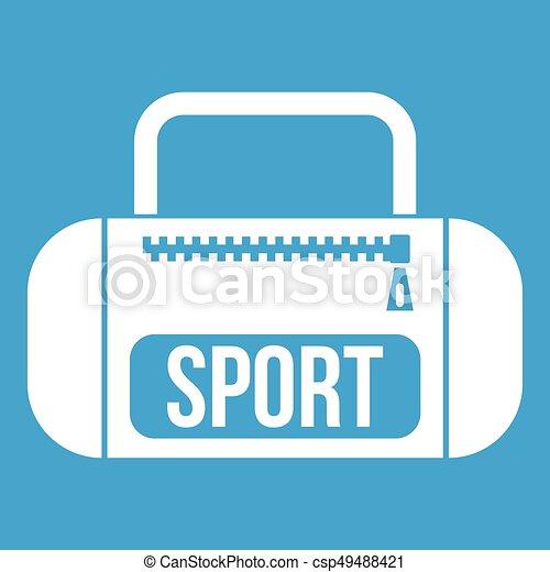 Sports bag icon white - csp49488421