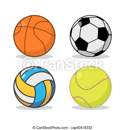 sports ball set basketball and football tennis and vectors rh canstockphoto com sports balls clip art free sports balls clipart black and white