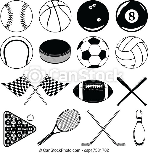 sports balls and other items illustration of balls and other sports related items includes. Black Bedroom Furniture Sets. Home Design Ideas