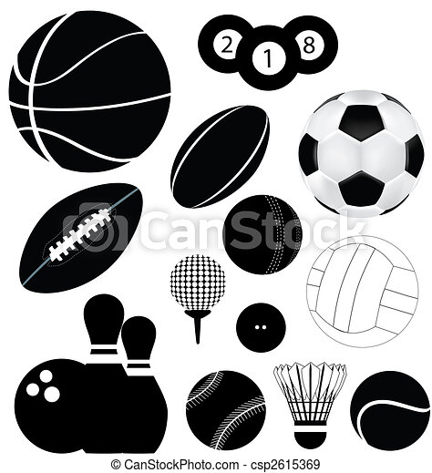 sports balls - csp2615369