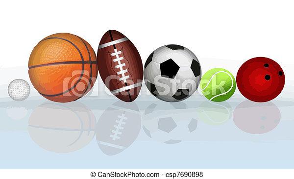 Sports balls - csp7690898