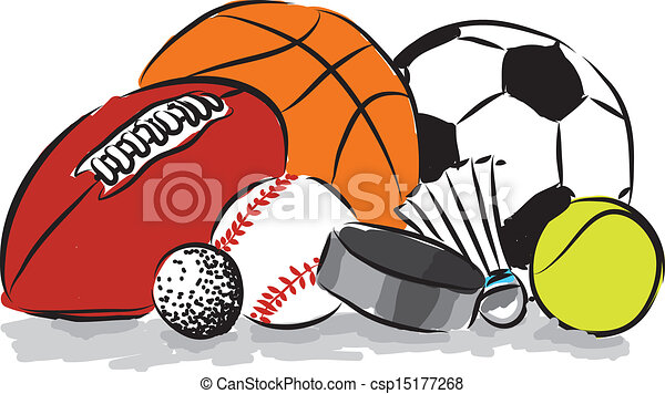 sports balls illustrations and clipart 169 503 sports balls royalty rh canstockphoto com cartoon sports balls clipart sports balls clipart black and white