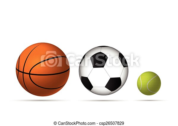 Illustration Of Sports Balls Isolated On A White Background Vector