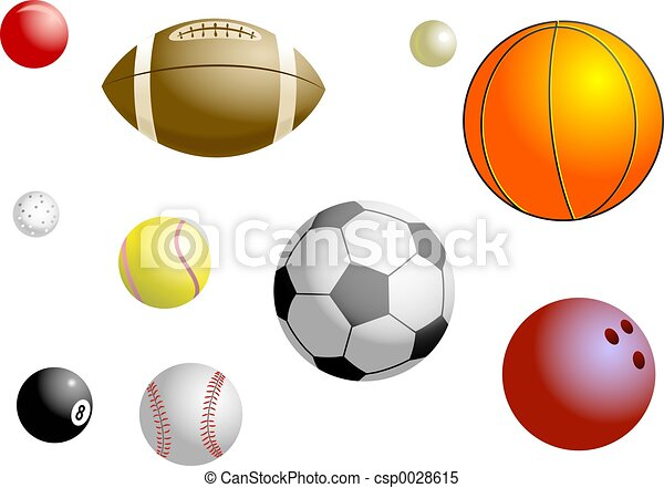 Sports Balls - csp0028615