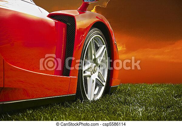 Sports Car at Sunset - csp5586114