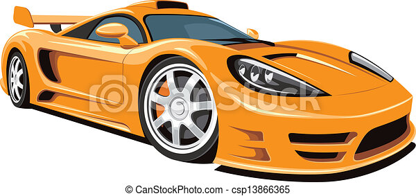 Sports Car Vector Isolated Sports Car On White Background Without