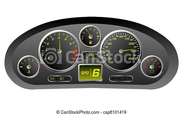 Sports car dashboard  - csp8101419