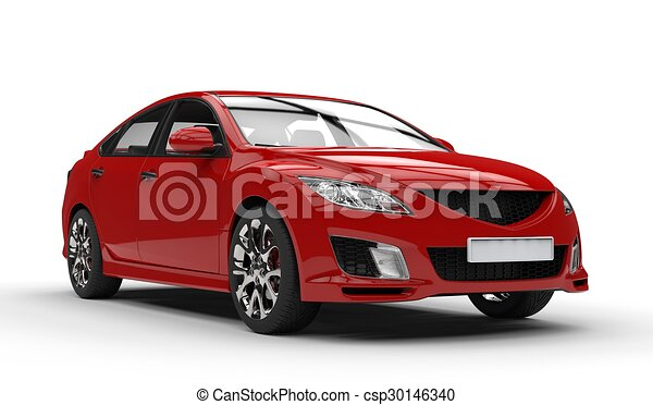 Sports Car Red 2 - csp30146340