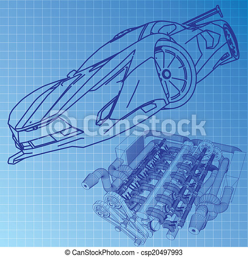 Sports car sketch blueprint eps vectors search clip art sports car sketch blueprint csp20497993 malvernweather Images