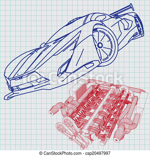 Sports car sketch blueprint eps vectors search clip art sports car sketch blueprint csp20497997 malvernweather Choice Image