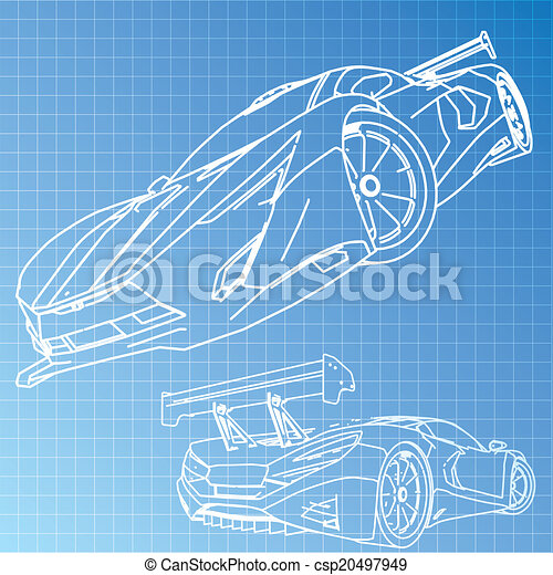 Sports car sketch blueprint eps vector search clip art sports car sketch blueprint csp20497949 malvernweather Gallery