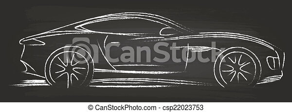 Sports Car Sketch - csp22023753