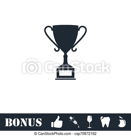 Sports cup icon flat - csp70872162