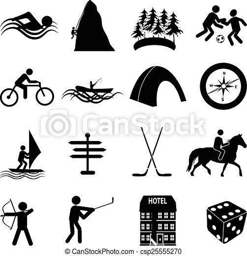 sports, ensemble, loisir, icônes - csp25555270