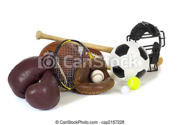 Sports Equipment on White - csp2187228