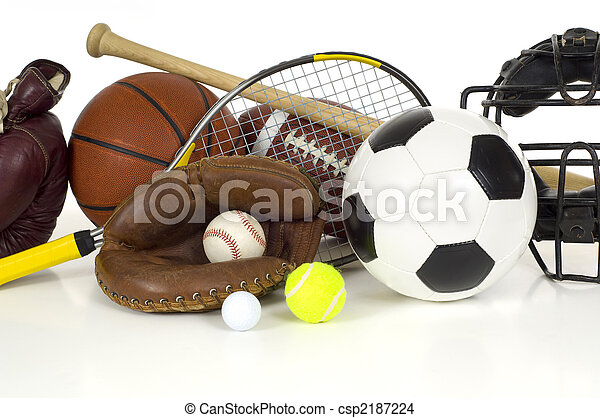 Sports Equipment on White - csp2187224