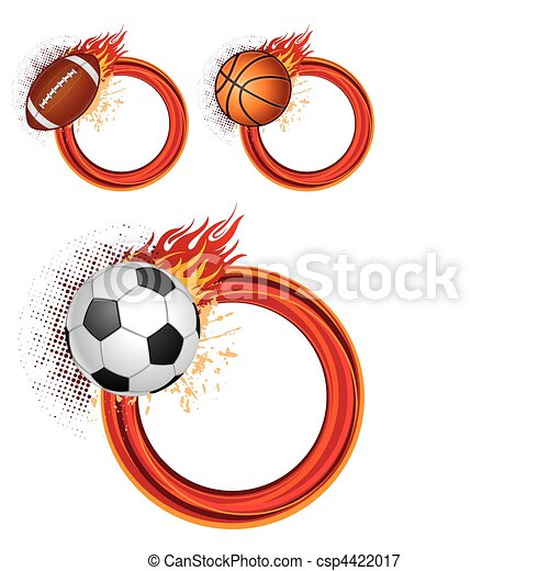 sports equipment with flames - csp4422017