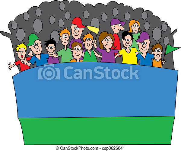 sports fans sports fans yelling in an outdoor stadium rh canstockphoto com