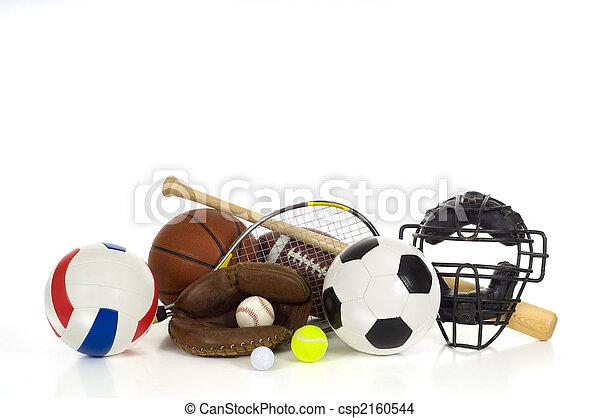 Sports gear on white - csp2160544