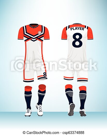 5efec132d14 Sports jersey template for team uniforms. Soccer jersey or football ...